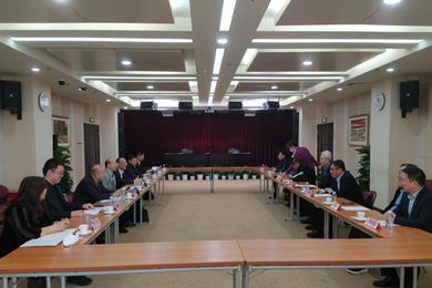 全国台联副会长纪斌会见国际洪门中华总会主席刘沛勋一行