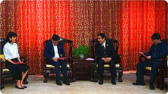 全国台联会长黄志贤会见台湾东森电视公司总裁张高祥一行