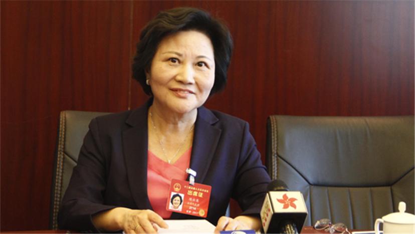台籍人大代表陈云英:用脚投票的台湾青年越来越多.jpg